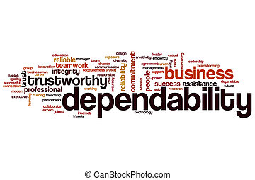 Dependability word cloud