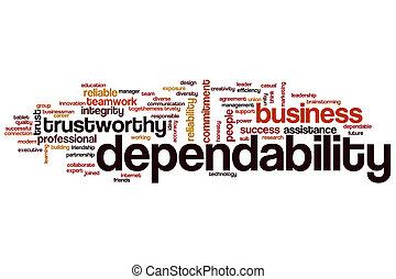 Dependability word cloud
