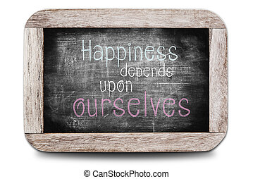 depends, sobre, ourselves, felicidad