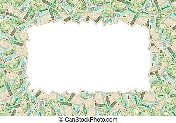 depicted, brésilien, buste, une, effigie, vieux, note, argent, portrait, républiques, vrai