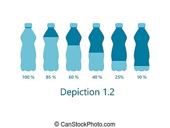 Depiction of Percentage Rate Water Aqua Vector
