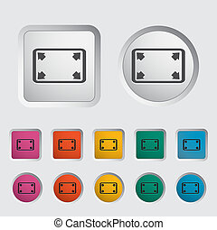 Deploying video icon. Vector illustration.