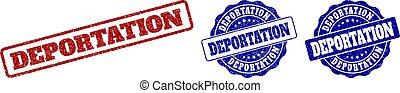 deportation, francobollo, grunge, sigilli