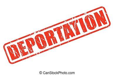 deportation, timbre, rouges, texte