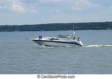 deporte, barco