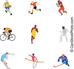 deporte, clases, colección