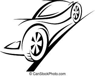 deporte, coche