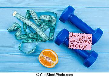 deporte, estilo de vida, y, pérdida de peso, concept.