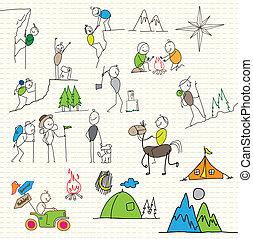 deporte, feriado, aventurero