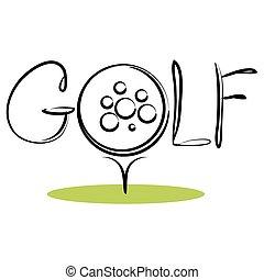 deporte, golf, icono