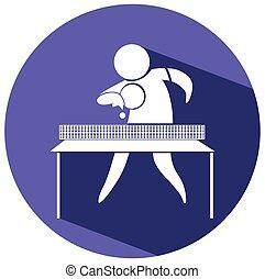 deporte, icono, para, tenis de mesa