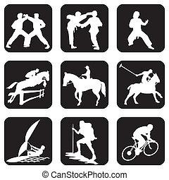 deporte, iconos