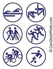 deporte, insignias