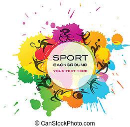 deporte, plano de fondo, -, colorido, vector, ilustración