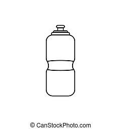 deporte, thermo, botella