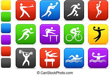 deportes, colección, icono