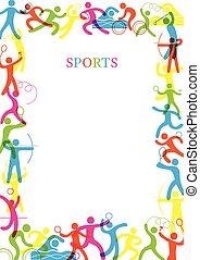 deportes, colorido, marco