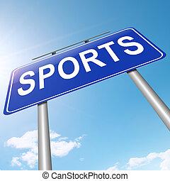 deportes, concept.