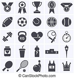 deportes, icono, collection.