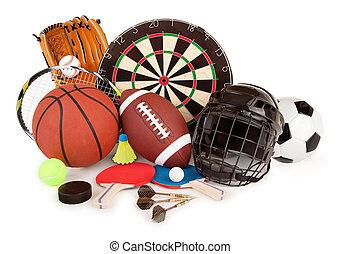 deportes, y, juegos, arreglo