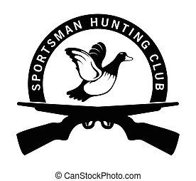 deportista, caza, club
