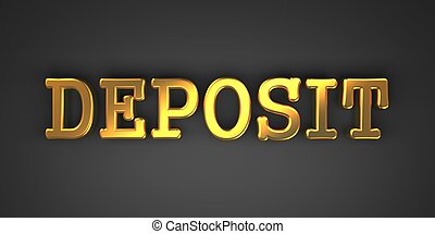deposit., achtergrond., zakelijk