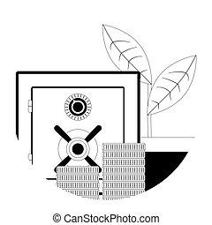 Deposit line icon