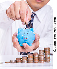 Deposit money for investment your business.