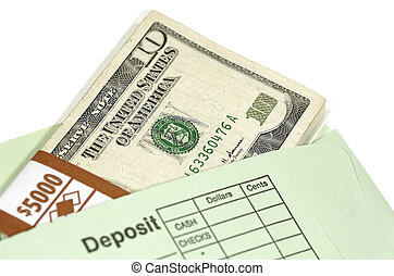 Deposit Envelope With Cash