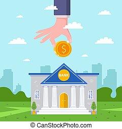 deposit., profitable, marques, personne, bank., revenu, contribution, réception