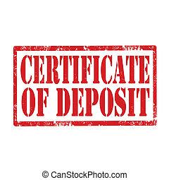 deposit-stamp, bescheinigung