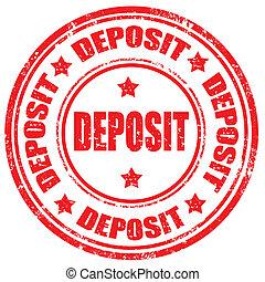 Grunge rubber stamp with word Deposit, vector illustration