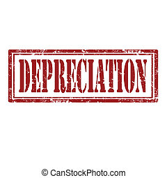 Grunge rubber stamp with text Depreciation, vector illustration