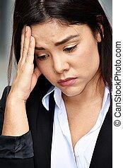 Depressed Beautiful Business Woman