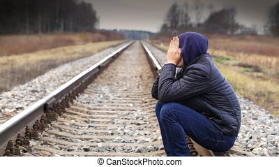 Depressed boy on the railway episode 2