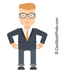 Depressed caucasian businessman. - Depressed caucasian...