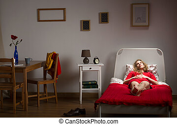 Depressed lonely girl - Photo of depressed lonely girl...
