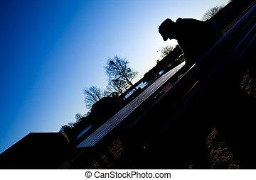 Depressed Man in Park
