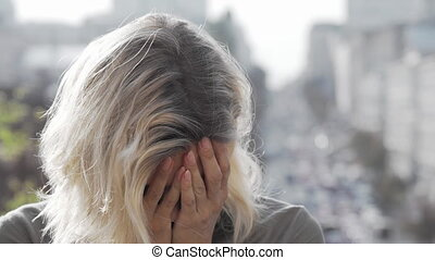 Depressed mature woman looking away thoughtfully. Unhappy ...