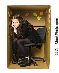 Depressed Office Woman