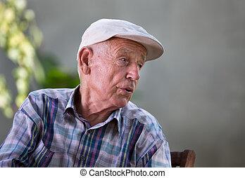 Depressed old man