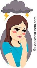 Depressed Sad Girl