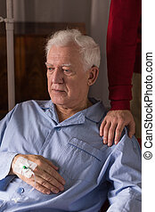 Depressed terminally ill senior