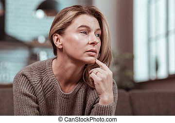 Depressed woman feeling in despair after fight with husband