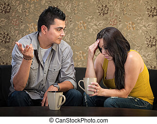 Depressed Woman with Friend
