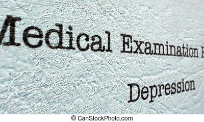 depressie, medisch, rapport