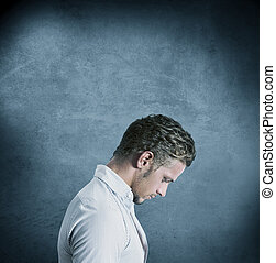 Depression - Concept of a depressed man