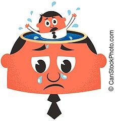 Depression - Conceptual illustration for depression.