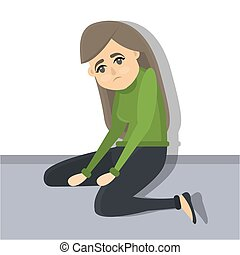 depression., femme