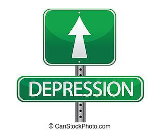 depression illustration sign